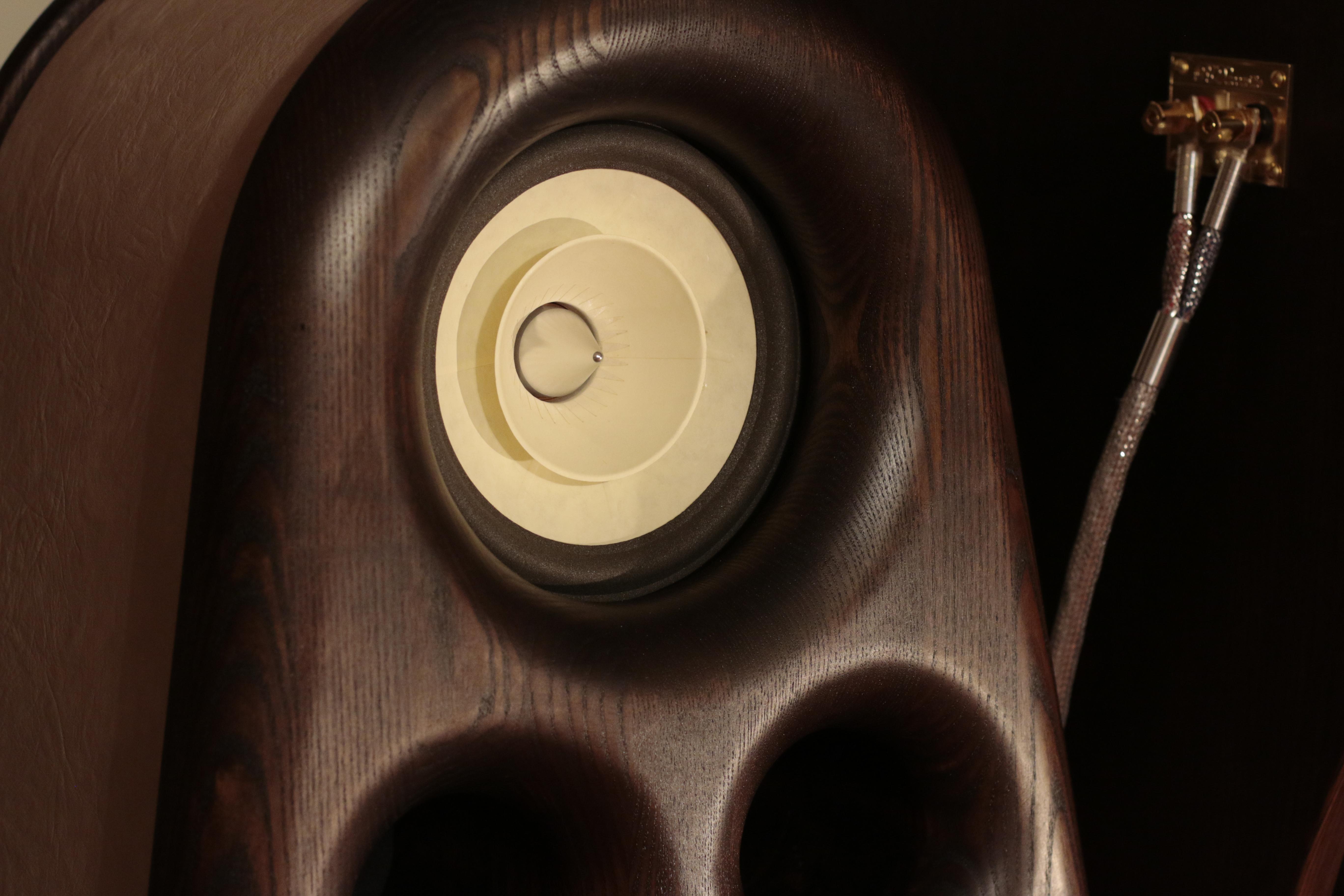 High End speakers Euphoria - dark real wood for audiophiles HIFI