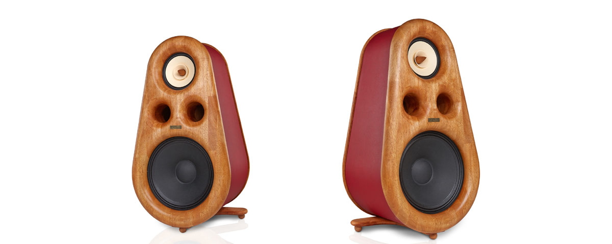 High End speakers Euphoria, real wood.  HIFI stereo - Home audio for audiophiles