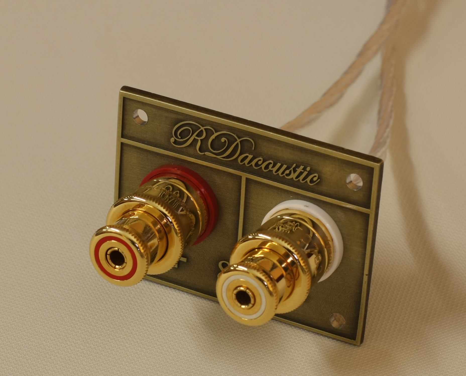 RDacoustic High-End speaker terminals WBT 702.11 Gold plated