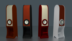 RDacoustic Evolution speakers colour variants