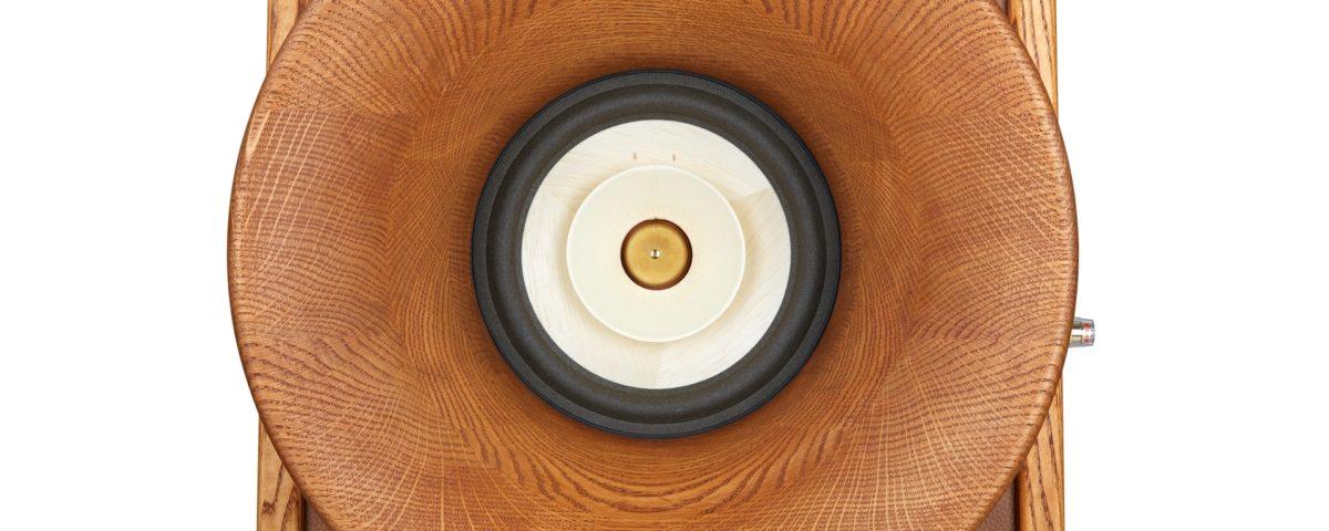 HIFI reprosoustavy Evolution, přední horn Oris500 + Voxativ AC1.8 wooden cone