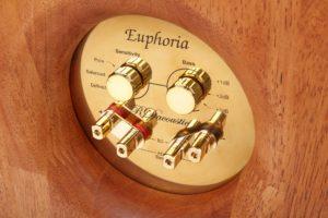 High End reproduktorové soustavy Euphoria - propojovací terminály RDacoustic